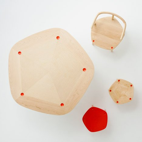 Claesson Koivisto Rune to launch pentagonal wooden furniture