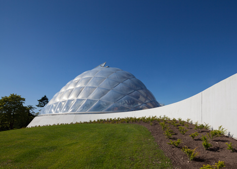 Quilted greenhouse by C. F. Moller allows adaptable light and temperature conditions