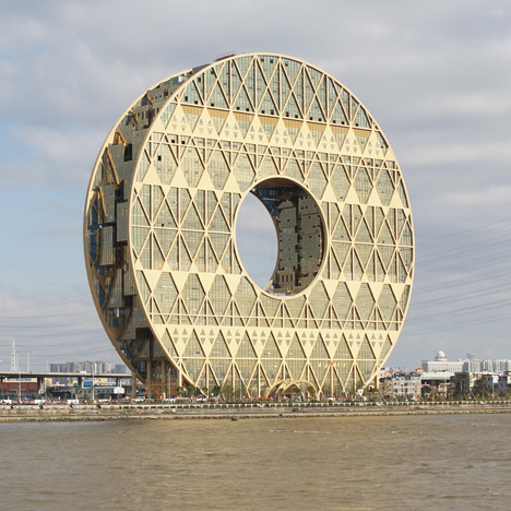 Doughnut-shaped skyscraper completed in Guangzhou