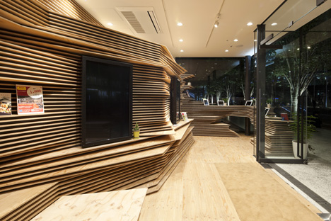 Gurunavi cafe and office by Kengo Kuma