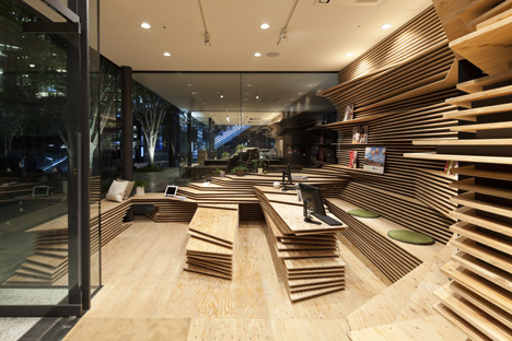 Gurunavi cafe and office by Kengo Kuma
