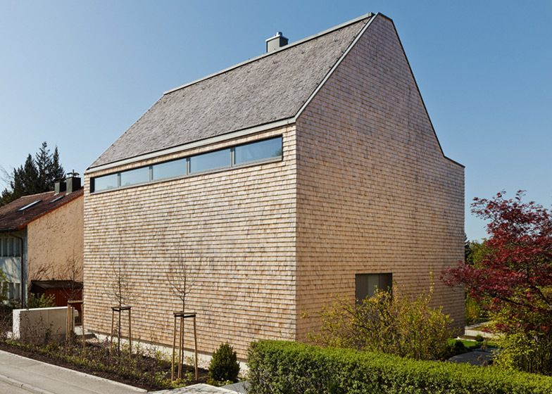 Concrete house in germany for Contemporary roofing materials