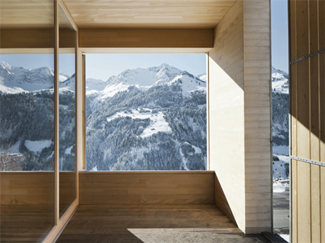 Bernardo Bader's Haus Fontanella is a chalet built from pine and spruce