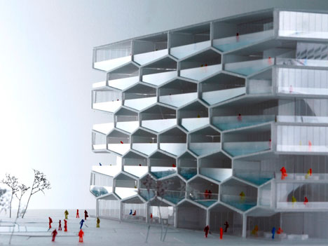 Honeycomb building by BIG