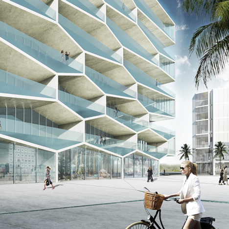 BIG designs honeycomb housing block for the Bahamas