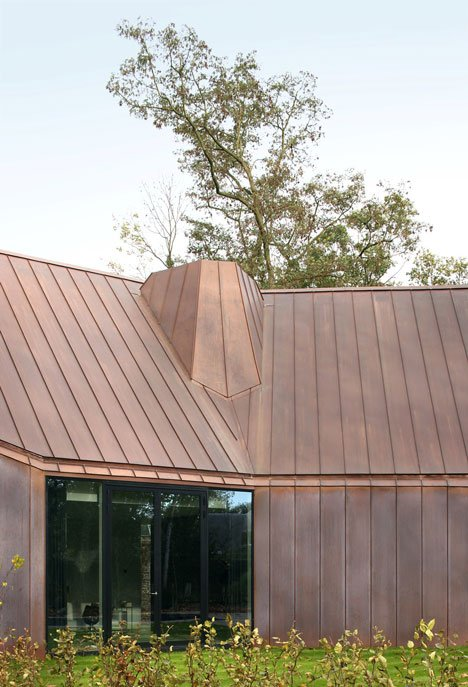 Copper-clad house by Graux & Baeyens will change colour over time