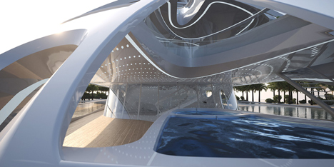 Jazz Unique Circle Superyacht by Zaha Hadid for Blohm and Voss