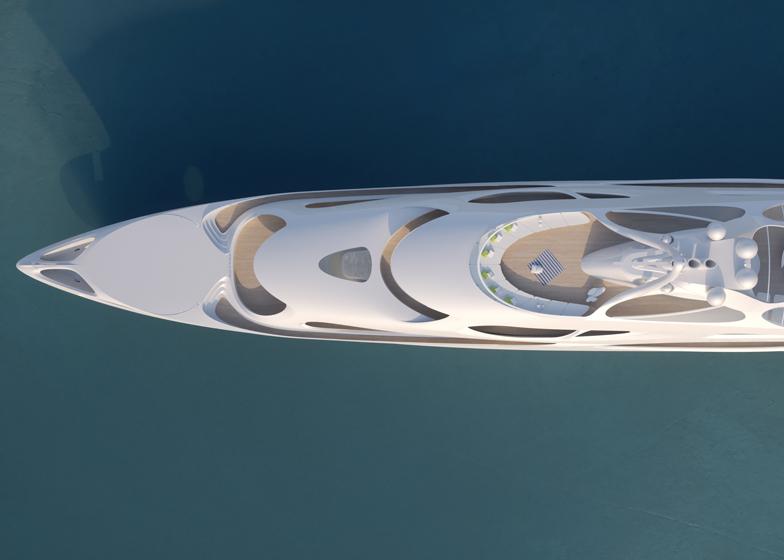 Augmented reality Zaha Hadid yacht at Selfridges' Imagine Store