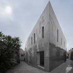 Jewish cultural centre with an acutely angled corner by Gonçalo Byrne Arquitectos