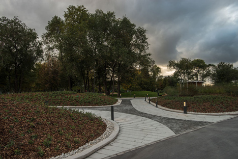 Krymskaya Embankment Moscow park by Wowhaus