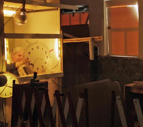 Shooting for Maarten Baas' Grandmother Clock