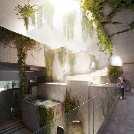 Museo Maya de America by Harry Gugger Studio and over,under