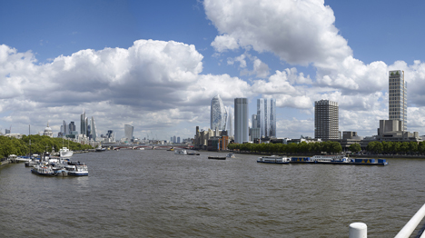 Photo-realistic renderings by Hayes Davidson imagine London's skyline in 20 years time