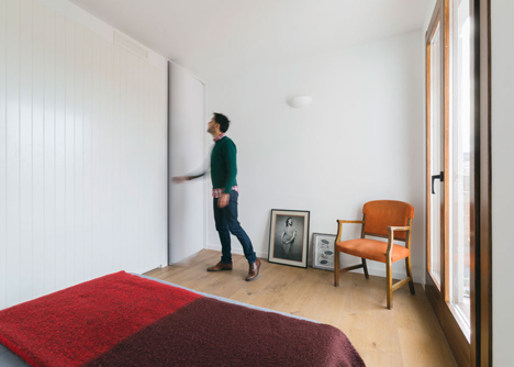 Nook Architects add patterned floor tiles and window seat to Barcelona apartment renovation