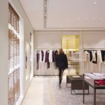 OMA drapes wooden curtains in Maison Ullens flagship store