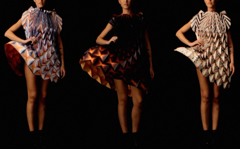 Origami dresses by Jule Waibel installed at Bershka stores in 25 cities