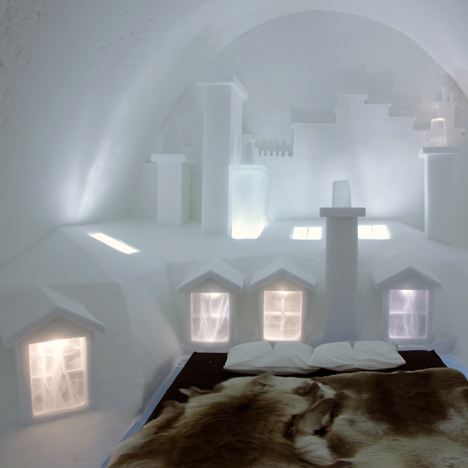 Icehotel suite by Les Ateliers de Germaine recreates the rooftops of Paris