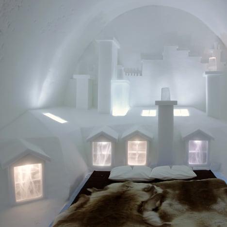 Icehotel suite by Les Ateliers de Germaine recreates the rooftops of Paris