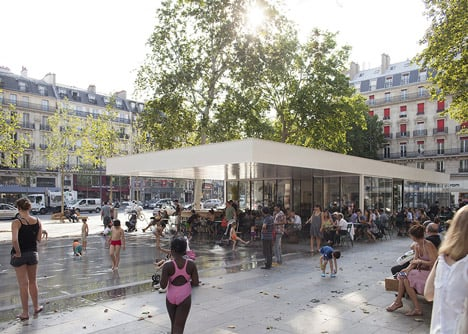 Place de la République and Monde & Médias Pavilion by TVK