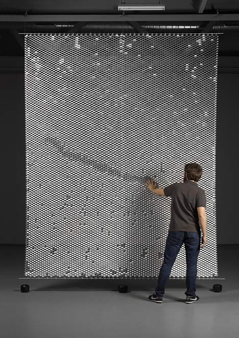 Reverso scaly room divider by Yann Mathys