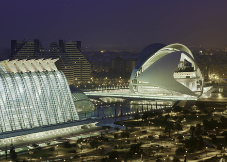 Palau de les Arts Reina Sofia at the City of Arts and Sciences Valencia by Santiago Calatrava