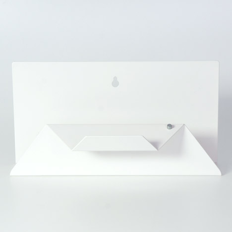 Sebastian Bergne folds metal sheet into Post Point letter holder