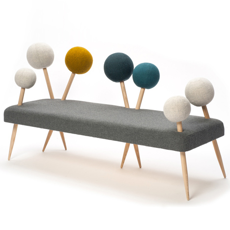 Sofa based on a pin cushion by Demeter Fogarasi