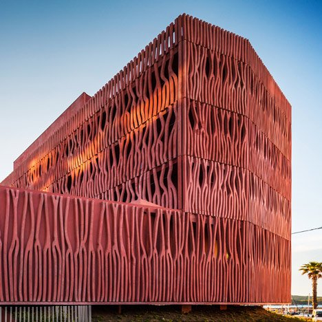 Student housing in France with a coral-inspired facade