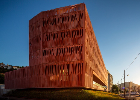 Student housing with a coral-inspired facade by Atelier Fernandez & Serres