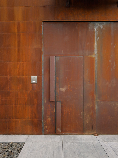 Pivoting Steel Doors Lead Into Studio Sitges, A House And Photography  Studio In Spain By