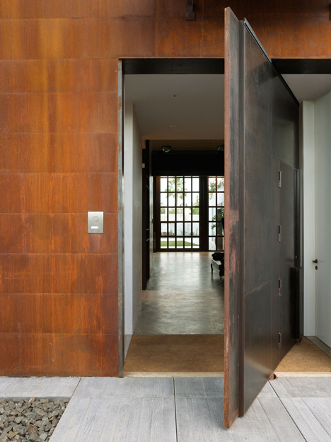 Superieur Pivoting Steel Doors Lead Into Studio Sitges, A House And Photography  Studio In Spain By