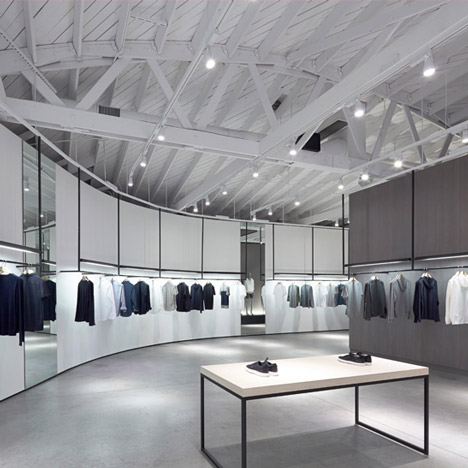 Nendo's store interiors for Theory are modell