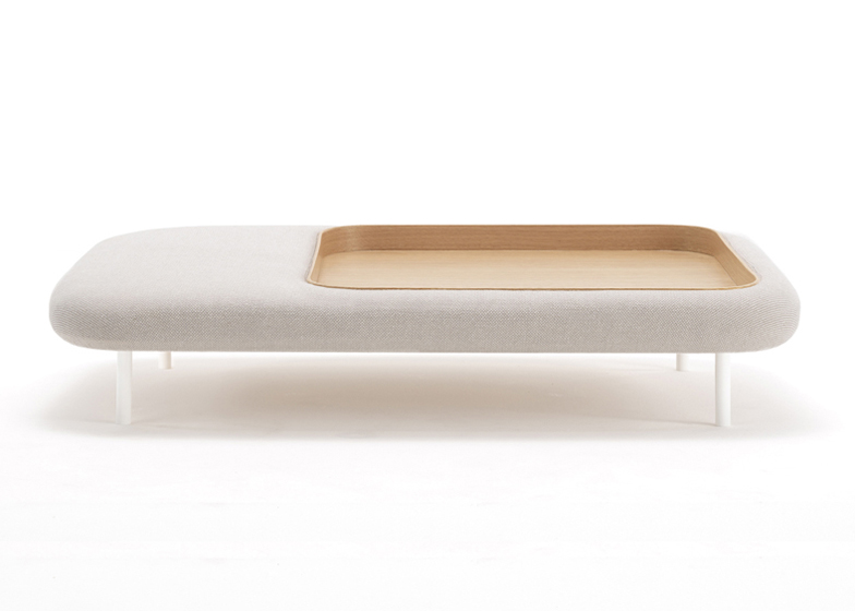Trouf table and pouffe hybrid by GamFratesi for Ligne Roset