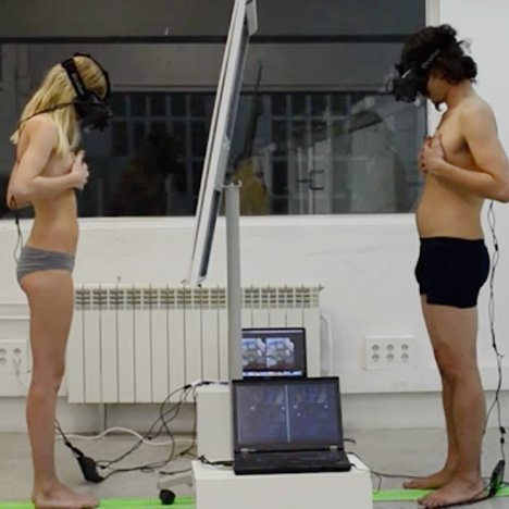 Virtual reality headset by BeAnotherLab lets users try swapping gender