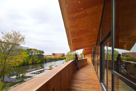 Studio Gang's Chicago boathouse designed to echo the rhythms of rowing