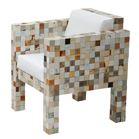 waste waste 40x40 by piet hein eek uses offcuts from scrap wood series. Black Bedroom Furniture Sets. Home Design Ideas