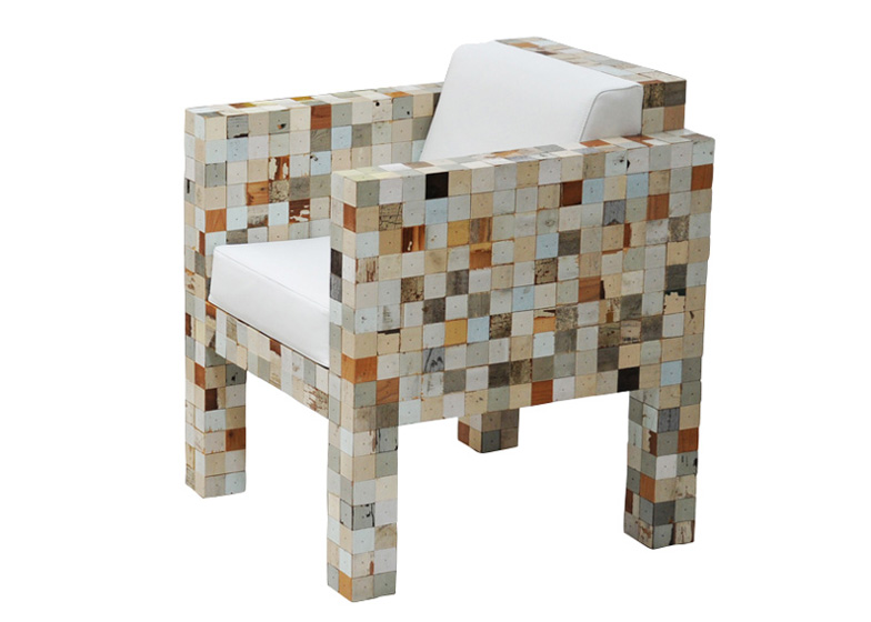 Exceptionnel Waste Waste 40x40 By Piet Hein Eek Uses Offcuts From Scrap ...
