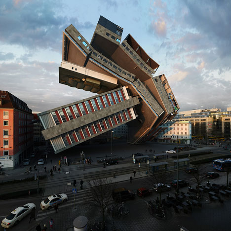 Photographer Victor Enrich turns a Munich hotel upside down and inside out