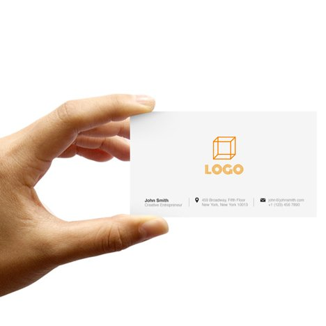 Business card designed using Squarestreet's service for creating logos