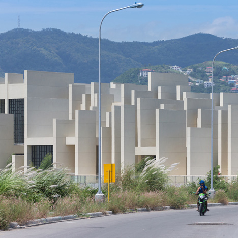 CAZA's 100 Walls Church is surrounded by staggered walls