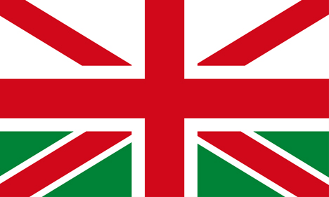 Alternative designs proposed for the union jack flag without Scotland