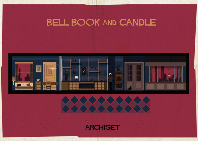 Archiset illustrated film sets by Federico Babina