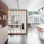 Bergen International Festival offices designed to resemble a workshop