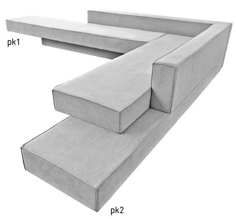 Lovely Cantilevered Sofa By Paulo Kobylka