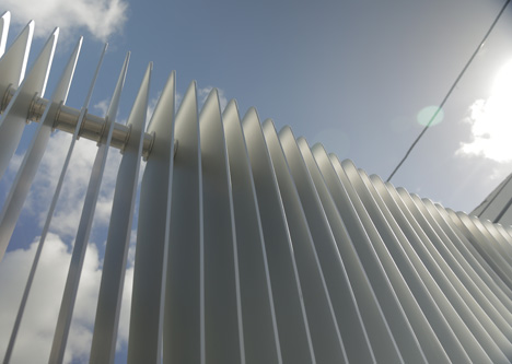 DASH fence by Marc Newson, Miami Design District