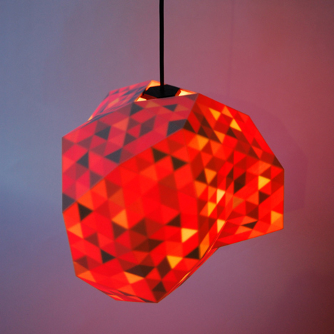 3D-printed Dazzle lamps by Corneel Cannaerts conceal colourful interiors