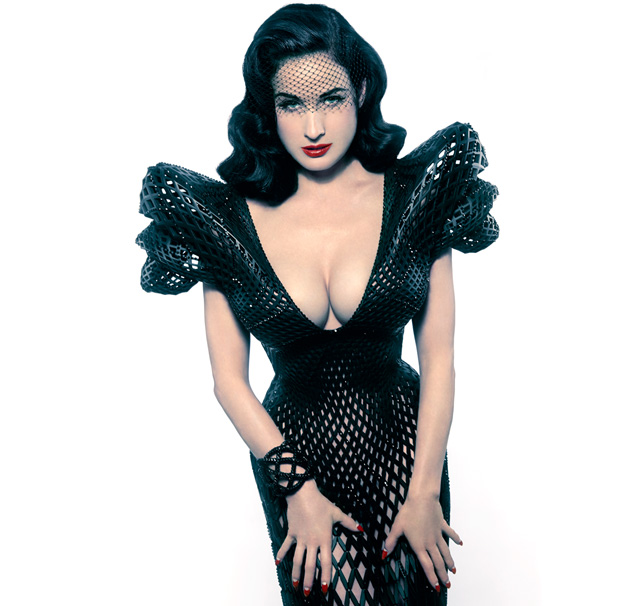 00b36861a5f2 Movie  Francis Bitonti on 3D-printed dress for Dita von Teese