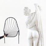 Drapée chair by Constance Guisset designed to look like draped fabric