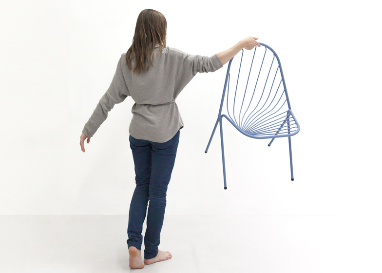 Drapee chair by Constance Guisset designed to look like draped fabric