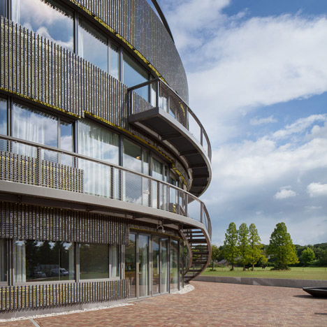 Ecological university building by BDG Architects features a circular plan